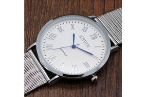 Элегантные наручные часы с ремешком из нержавеющей стали