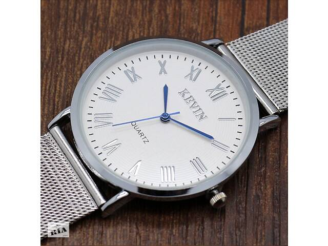 Элегантные наручные часы с ремешком из нержавеющей стали- объявление о продаже  в Киеве
