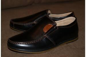 Качественные кожаные туфли / мокасины для мальчика