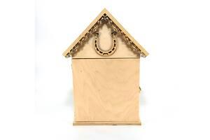 Ключница домик Мастерская мистера Томаса 26см х 8 см х 36,5 см Фанера без покрытия