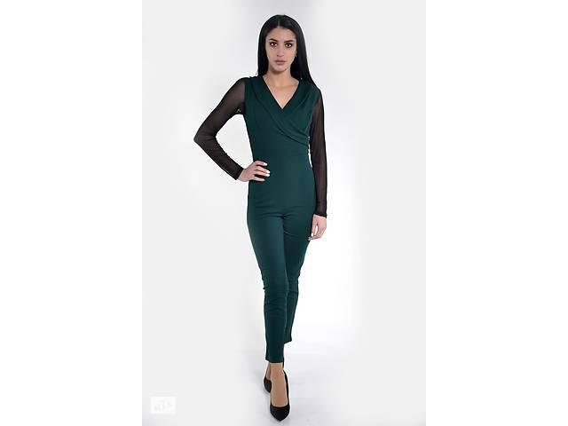 бу Комбинезон женский 119R177 цвет Темно-зеленый в Одессе