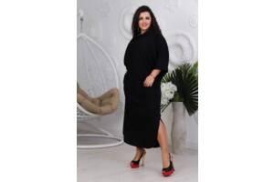 Костюм кофта и длинная юбка черный цвет SKL11-291524