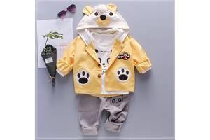Костюм-тройка для мальчиков Supreem Bear желтый 4521