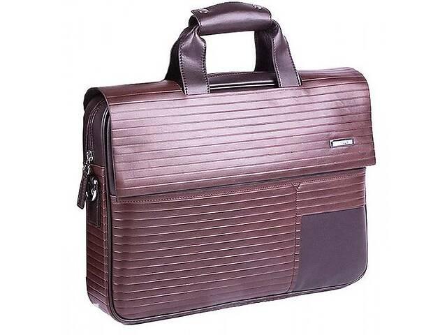 купить бу Кожаная сумка для ноутбука V 402 Brown Business Collection V.402.B коричневая в Киеве