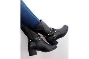 Кожаные демисезонные женские ботинки 41р - 27 см