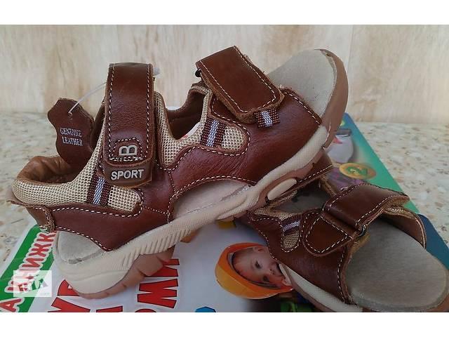 Шкіряні ортопедичні сандалі босоніжки на хлопчика розмір 23,25,26,27,28- объявление о продаже  в Маріуполі