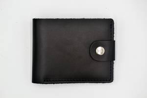 Кожаный мужской кошелек ROMIO (CKSBl-2020) Черный