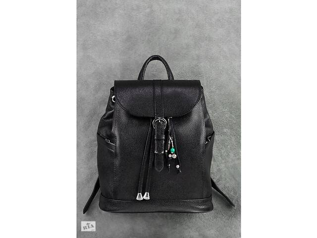 бу Кожаный женский рюкзак черный Олсен BlnkntBN-BAG-13-onyx в Киеве