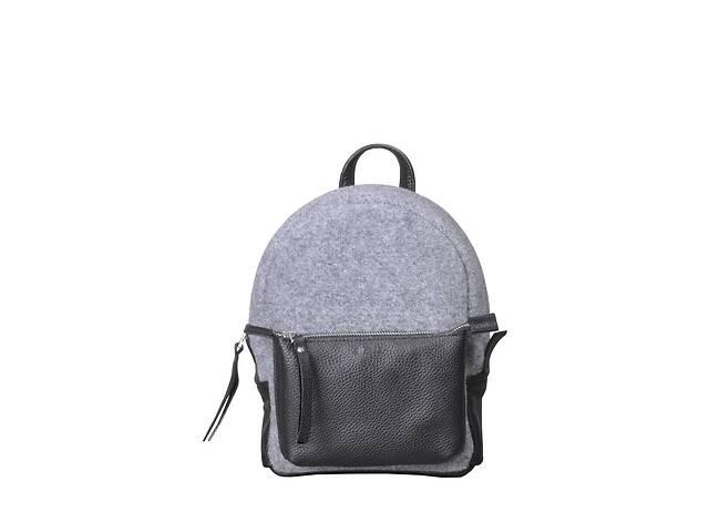 купить бу Кожаный женский рюкзак Sport Felt серый/черный JzzSP292310FEGB в Киеве