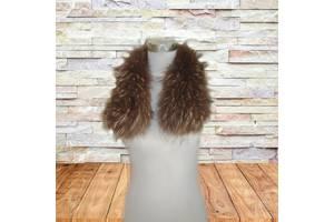 Красивый натуральный воротник песец на куртку на петельках коричневый