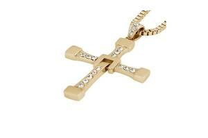 Крест Доминика Торетто с Форсажа 65x39 см с цепочкой Позолота Kronos (bks_02299)