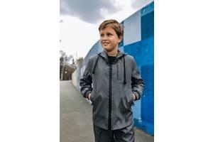Куртка для мальчика серая демисезонная Softshell Easy SKL59-291139