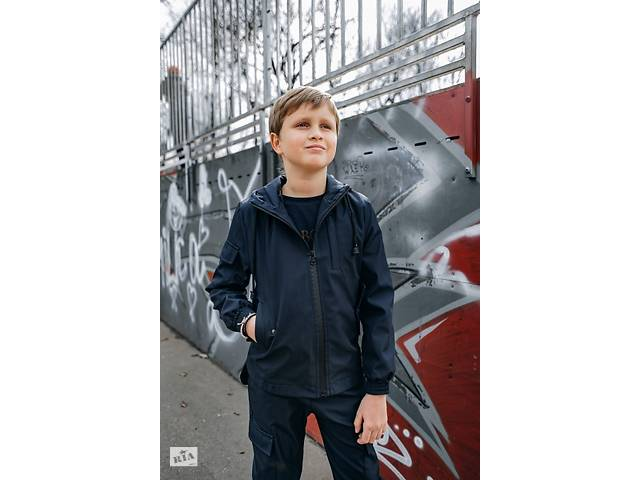 купить бу Куртка для мальчика синяя демисезонная Softshell Easy SKL59-291148 в Киеве