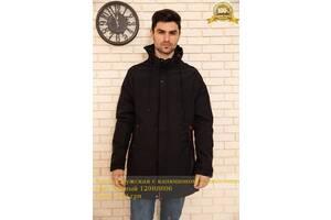 Куртка мужская с капюшоном демисезонная цвет Черный 129R8806