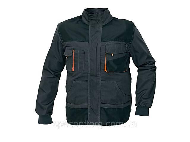 Куртка рабочая Emerton мужская демисезонная темно-серая (антрацит) с черным, оранжевая отделка