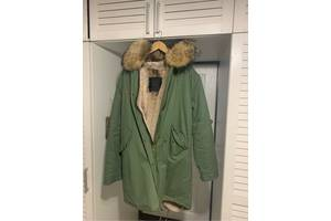 Куртка зимова, парку, чоловіча, натуральне хутро (кролик), розмір XL