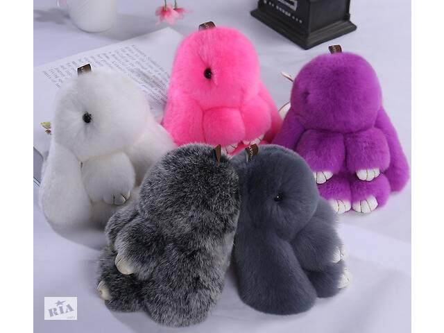 продам Меховой кролик брелок на сумку рюкзак, мягкая игрушка заяц бу в Днепре (Днепропетровск)