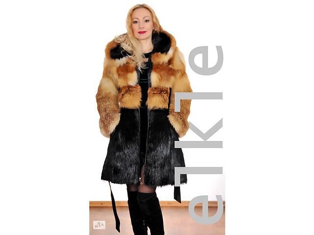 продам модельная шуба LINU #elkle( лисичка + нутрия ) с капюшоном бу в Запорожье
