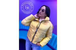 Модная дутая куртка yellow / желтая размер s-м
