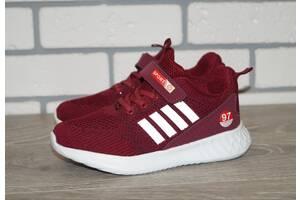 Модные бордовые кроссовки, размеры: 32-37