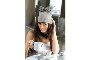 Молодежная женская шапка Берта (Berta), ТМ Kamea, Польша, полушерстяная