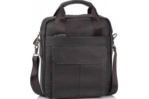 Мужская кожаная сумка Tiding Bag коричневый