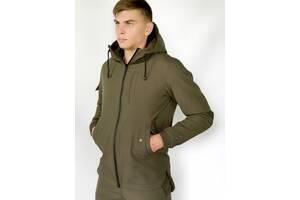 Мужская куртка хаки демисезонная и Ключница в подарок SKL59-283412