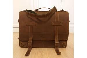 Мужская сумка-портфель из натуральной кожи Crazy Horse.