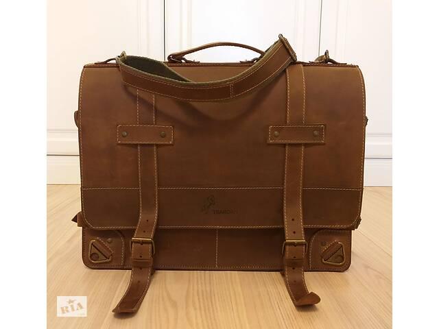 Мужская сумка-портфель из натуральной кожи Crazy Horse.- объявление о продаже  в Одессе