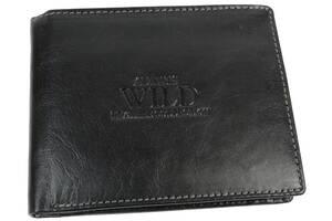 Мужское кожаное портмоне ALWAYS WILD SN7GT Black