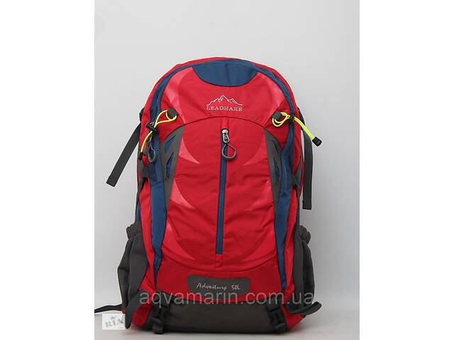 купить бу Мужской большой вместительный рюкзак Lead Hake металлическим каркасом + дождевик / чехол LeadHake в Дубні
