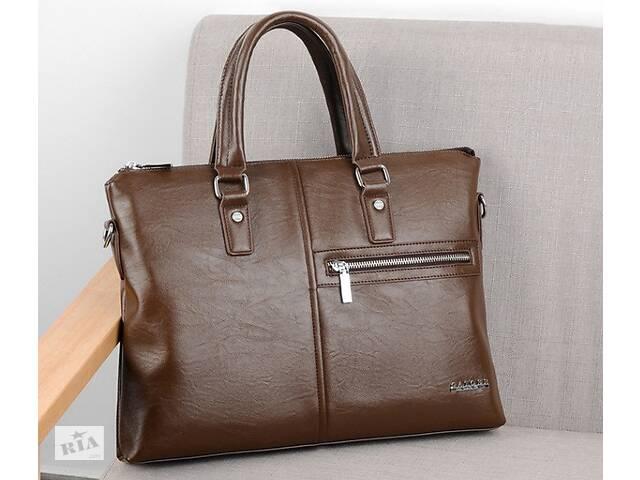 купить бу Мужской деловой портфель для документов формат А4 мужская сумка для планшета ноутбука бумаг Светло-коричневый в Днепре (Днепропетровск)