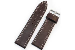 Мужской стильный ремешок для часов, кожаный Mykhail Ikhtyar 24-529 коричневый