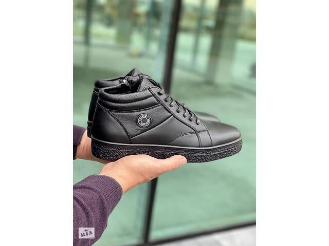 Мужские ботинки кожаные зимние черные Falcon Б 5620- объявление о продаже  в Хмельницком