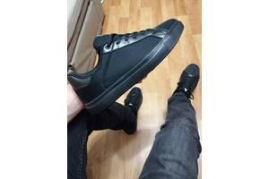 Мужские кеды, кроссовки стильные чёрные