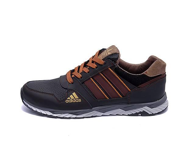 купить бу Мужские кожаные кроссовки Adidas Tech Flex Brown (реплика) в Одессе