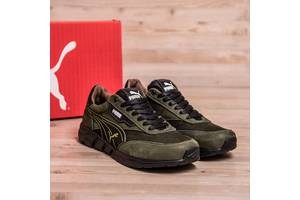 Мужские кожаные кроссовки Puma Anzarun Green