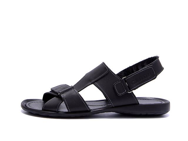 купить бу Мужские кожаные сандалии CARDIO Black в Харькове