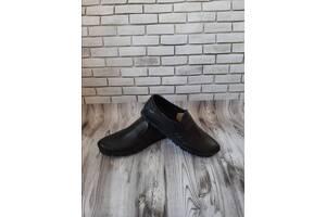 Чоловічі шкіряні туфлі чорн- коричн 00578