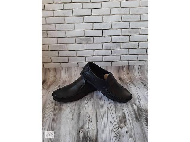 продам Чоловічі шкіряні туфлі чорн- коричн 00578 бу в Мелітополі