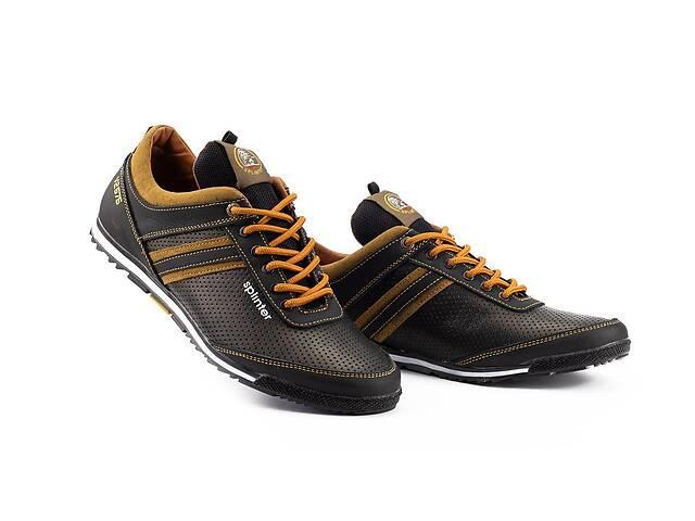 продам Мужские кроссовки кожаные весна/осень черные-коричневые Splinter V2 5312 перф бу в Хмельницком