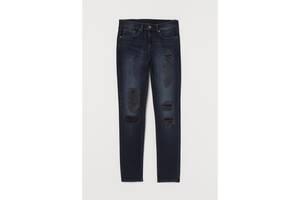 Мужские синие зауженные джинсы skinny. h&m. размер w34 l32