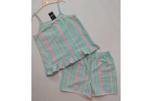 Мятный полосатый костюм George р. 8-9 лет