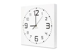 Настенные часы ручной работы Kauza - 3D цифры бесшумный механизм Белые (kau_0003)