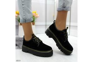 ТОЛЬКО 41р. Натуральные замшевые туфли в стиле dr. Martens 41р-25,5 см