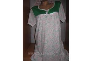 Ночная рубашка DOLLAR CLUB, 100% хлопок пр-во Узбекистан, размер 50-52, короткий рукав, 4 расцветки