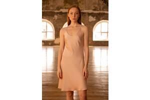 Нічна сорочка Forly Комбінація шовкова Nude S Бежевий SH0007-01-20_S
