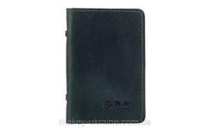 """Обложка-органайзер для ID паспорта / карт, коллекция """"Классика"""". Цвет зеленый"""