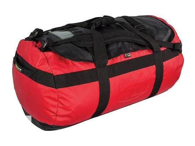 купить бу Оригинальная дорожная сумка-рюкзак Highlander Lomond Tarpaulin Duffle 90 Red, 924194 красный в Киеве