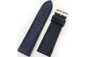 Оригинальный мужской ремешок для часов из натуральной кожи Mykhail Ikhtyar 8019 темно-синий